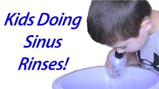 Pediatric Nasal Rinse - How a Sinus Rinse is Performed in Kids!