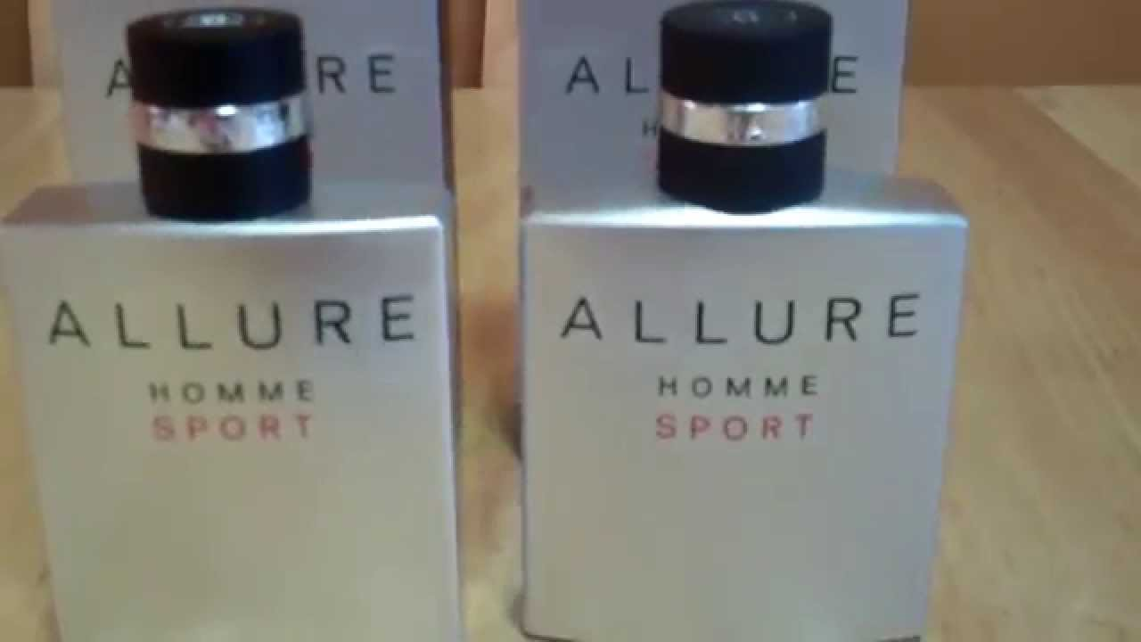 4406d66b50 Real vs Fake Part 3 Chanel Allure Homme Sport Fragrance Cologne - YouTube