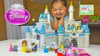 Huge Disney Princess Cinderella's Castle and Surprise Eggs! Disney Princess Toys