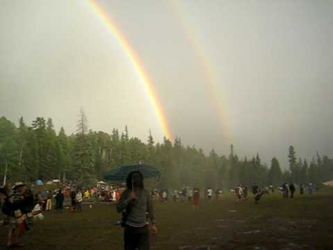 Double Rainbow Rainbow Gathering New Mexico July 4th 2009 #2