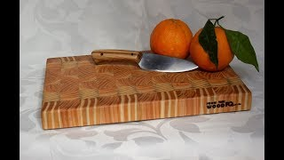 End Grain Cutting Board - Homemade in Pine - Kitchen Wood