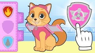 BABY PETS 😺 La gatita Kira se disfraza de perra policía aviadora