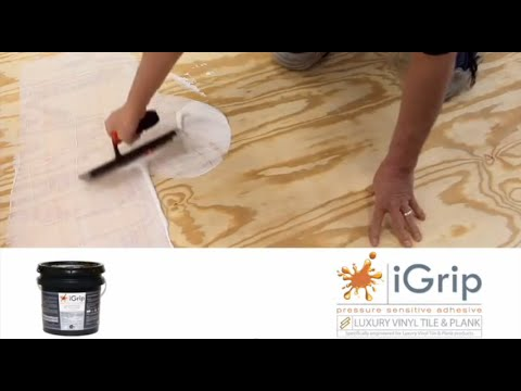 Ivc Lvt Igrip Glue Down Installation