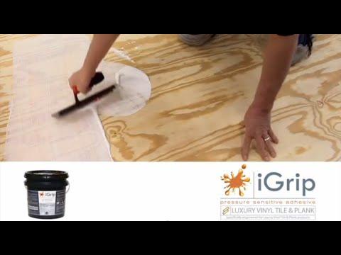 ivc lvt igrip glue down installation with trowel full video