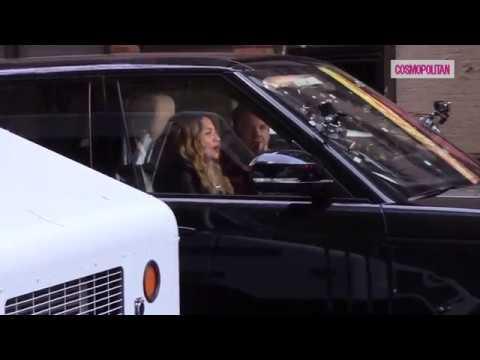 Pillamos a Madonna y a James Corden de shooting