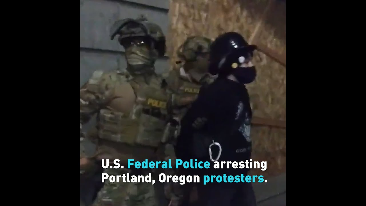 Unmarked cars and Federal Police: Protesters in Portland faceoff against authorities