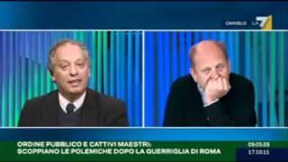 Peter Gomez ad omnibus zittisce rondolino sulla crisi in italia. 16 10 2011