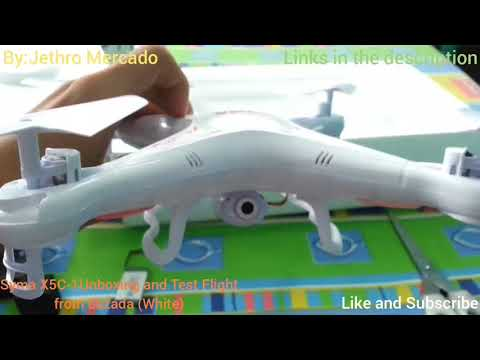 Syma X5C-1 Unboxing And Test Flight From Lazada Philippines