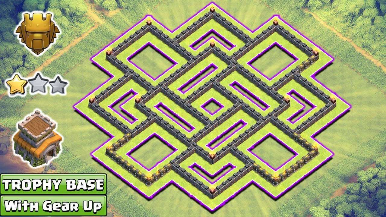Town Hall 8 Best Trophy Base