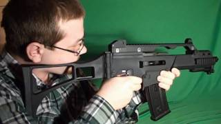 airsoft gun review we tech g39c gas blowback rifle h g36c replica