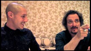 Theo Rossi and Kim Coates