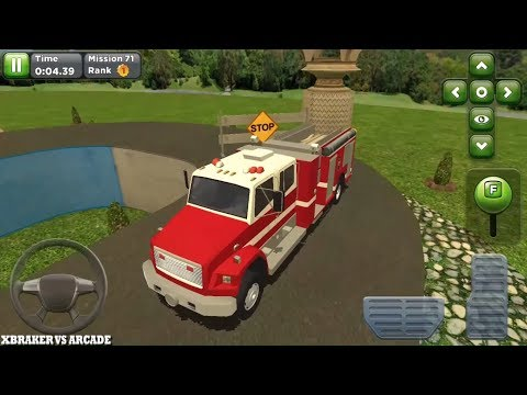 Obstacle Course Car Parking New Vehicle Fire Truck Unlocked Android Gameplay #12