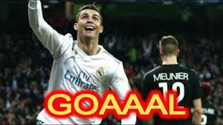 Goaaal Ronaldo Vs Paris saint germain 1-1 HD Champions League