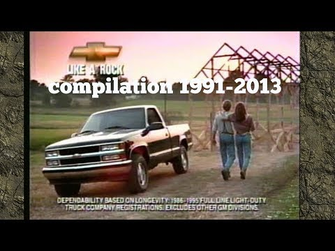 Chevy Silverado Commercial like a rock compilation 1991-2013