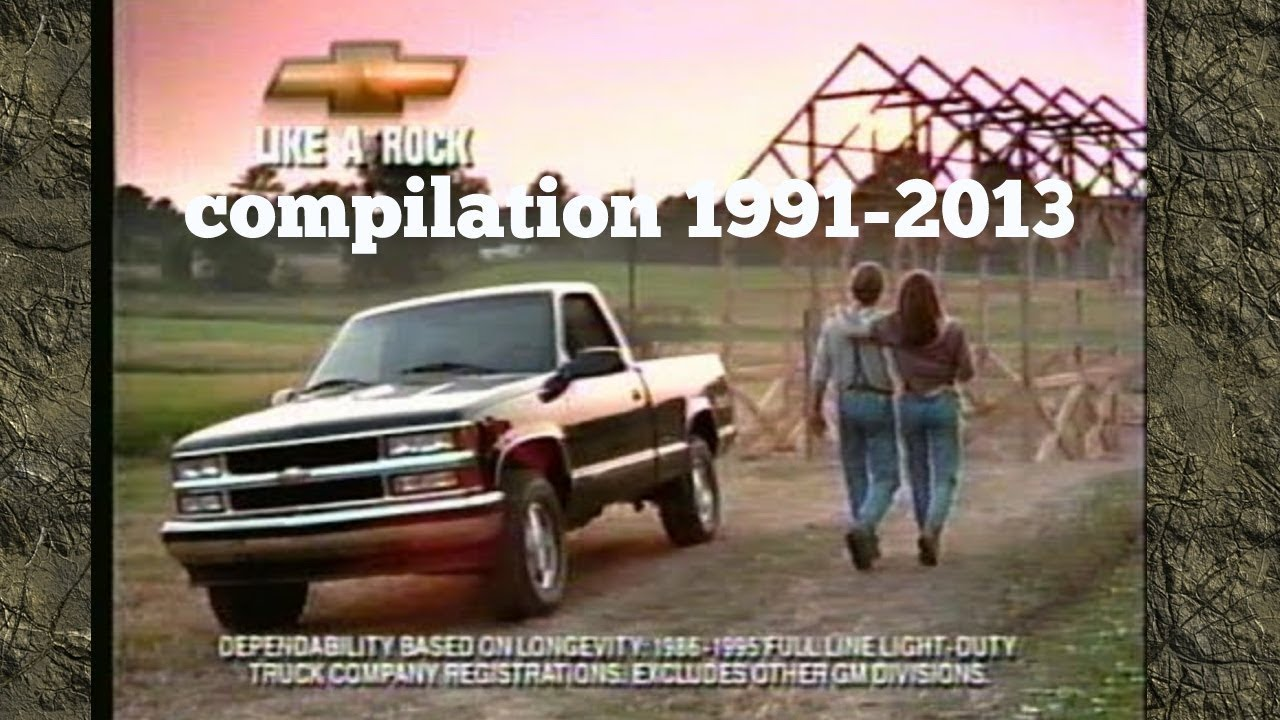 Chevy Silverado Commercial like a rock compilation 1991-2013 - YouTube
