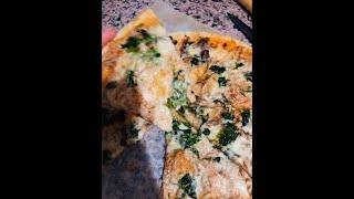 Пицца на тонком тесте. Быстро и вкусно.