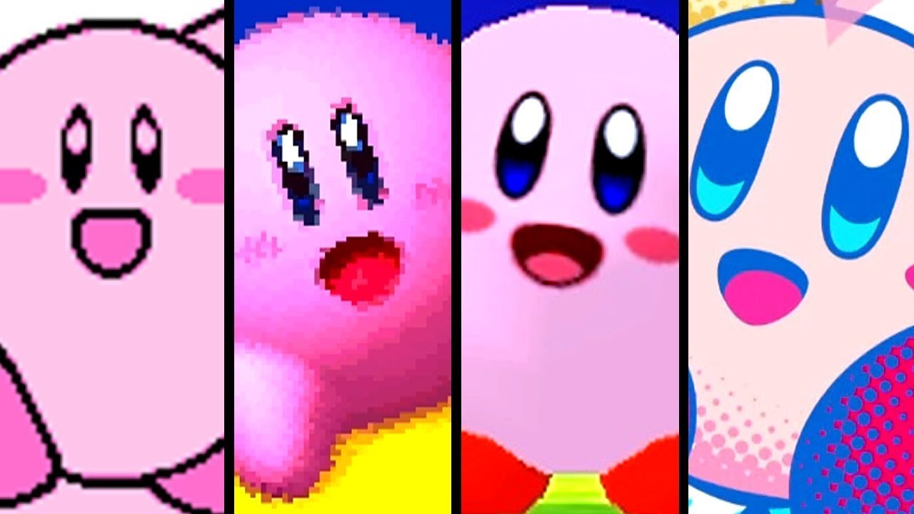 Kirby Evolution of INTROS - Star Allies to Gameboy (1992-2018)