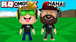 WE HAVE BIGGEST HEADS WITH MY DAD in ROBLOX