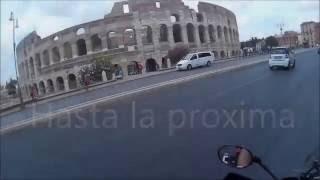 Triumph Explorer 1200, Viaje por europa. Primer capitulo. Madrid-Barcelona-civitavecchia, Italia