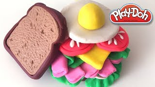 Tomato Egg Sandwich DIY Play-Doh Recipe How To Make Play Dough Food - CLAY ART TV