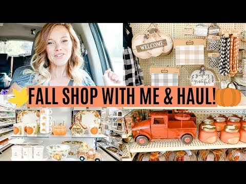 FALL SHOP WITH ME AND HAUL 2019 // FALL DECORATING IDEAS // HOBBY LOBBY AND HOMEGOODS SHOPPING