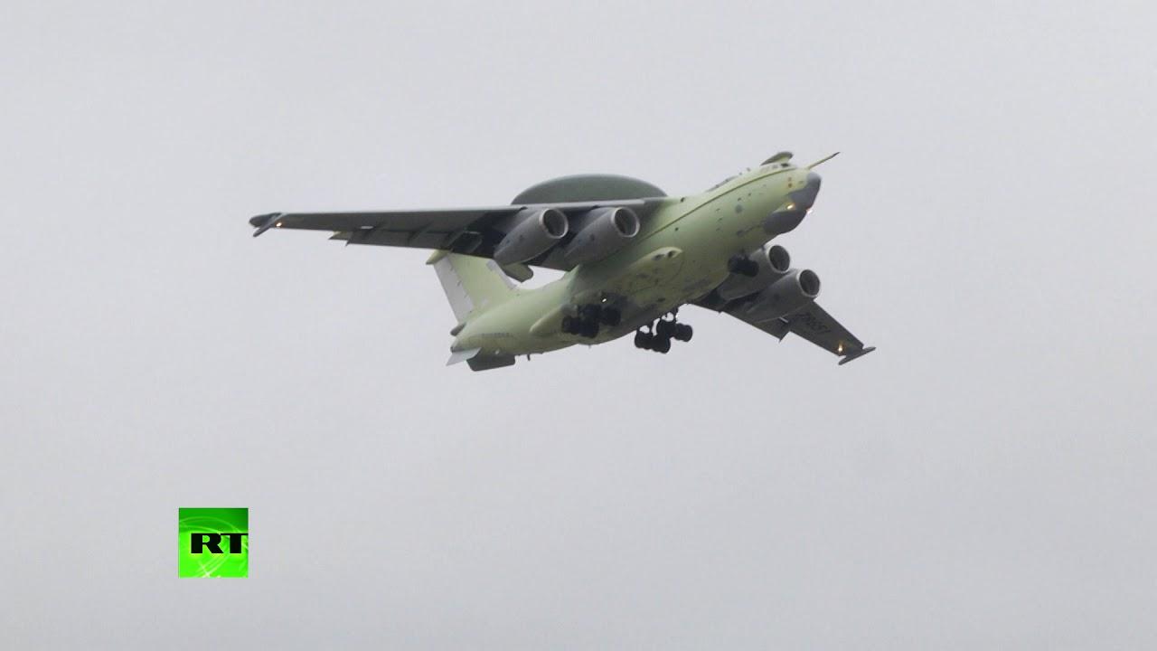 Видеокадры первого полёта российского «Летающего радара» А-100