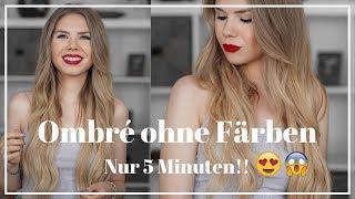 DIY Ombre Balayage Hair selber machen ohne Färben in 5 Minuten |TheRubinRose