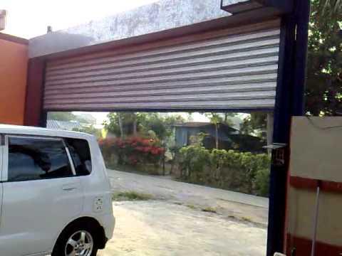 Motorized Rollup Door  YouTube