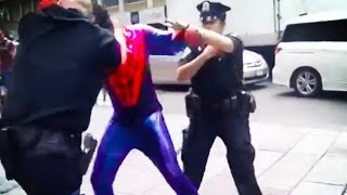 Spider-Man Punches Cop In The Face