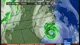 Wilmington, NC. Hurricane Ophelia local forecast: Clip 1
