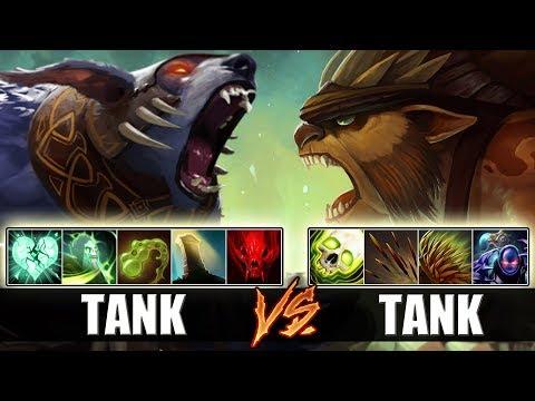 Cancer Tanky Battle [Double Ulti/Triple Aghs URSA vs Broken Healer BRISTLEBACK] Dota 2 Ability Draft