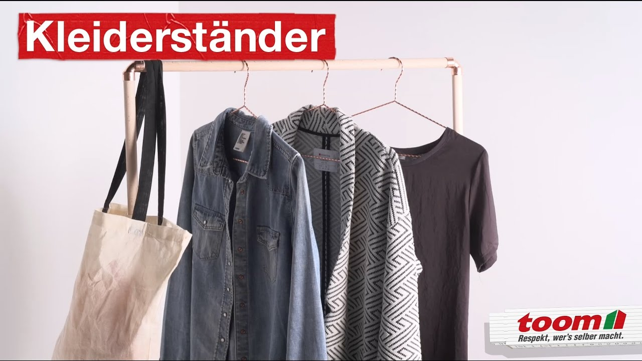 Kleiderständer Im Industrial Look Diy By Toom Youtube