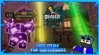 FREE ITEMS FOR SUB Dungeon Quest🗡️ Roblox | GiveAway | NightMare Carry LiveStream [🔴]