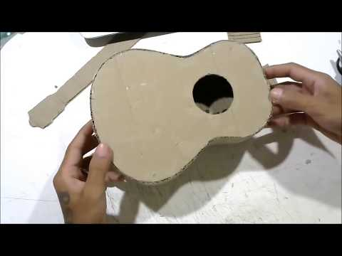 How to make an Acoustic Guitar from cardboard