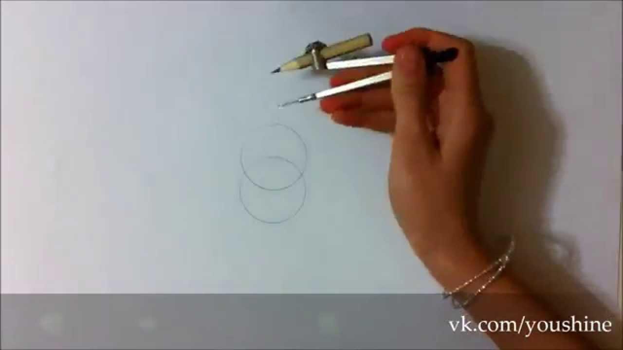 Рисуем Цветок Жизни How to draw the Flower of Life