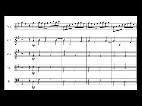 Telemann - viola concerto - Presto (4/4) Sheet music / partitions
