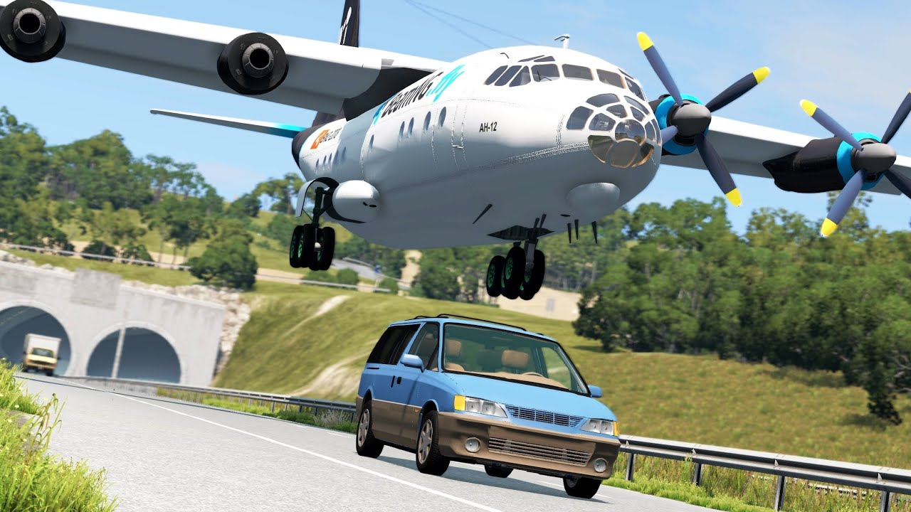 Airplane Emergency Landing Crashes 3   BeamNG.drive
