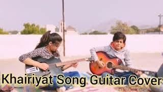 Khairiyat song Guitar Cover 2020   Instrumental cover   Sidhmayi Musical Academy  