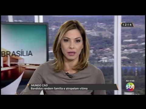 Bandidos rendem família e atropelam vítima