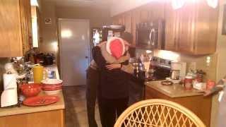 Marine surprises Grandmother for Christmas