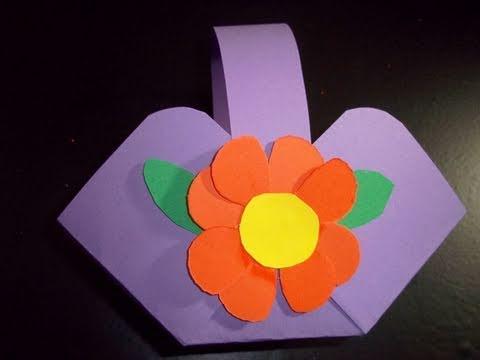 How to make a candy basket ep simplekidscrafts youtube - Manualidades de papel reciclado ...
