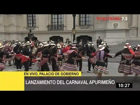 Presidente Vizcarra participa en lanzamiento del Carnaval Apurimeño