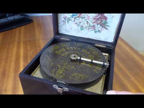 6 INCH POLYPHON DISC MUSIC BOX
