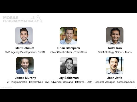 Panel: Programmatic Ad Tech landscape - Trends in  2018 (Mobile Programmatically) Mp3