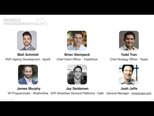 Panel: Programmatic Ad Tech landscape - Trends in  2018 (Mobile Programmatically)
