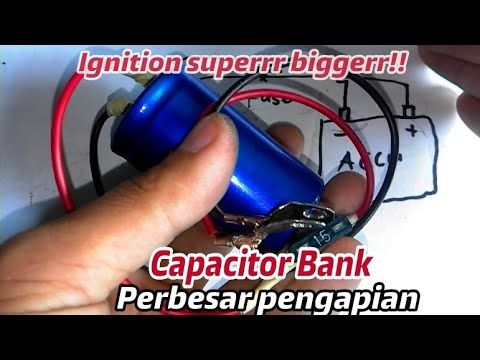 Cap bank!! How to make ignition super bigger with used capacitor bank