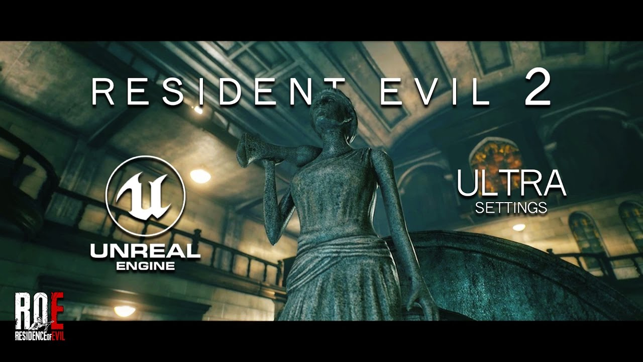 Resident Evil 2 | Fan REMAKE | R P D  Main Hall | Unreal Engine 4 | ULTRA  Settings |
