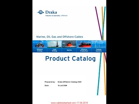 Draka Last Marine, Oil, Gas and Offshore Pruduct Catalog