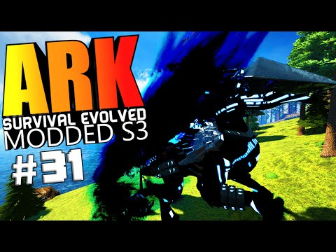 ARK Survival Evolved - PRIMORDIUS DRAGON VS ALL WARDENS, GIGA LASER Modded #31 (ARK Mods Gameplay)
