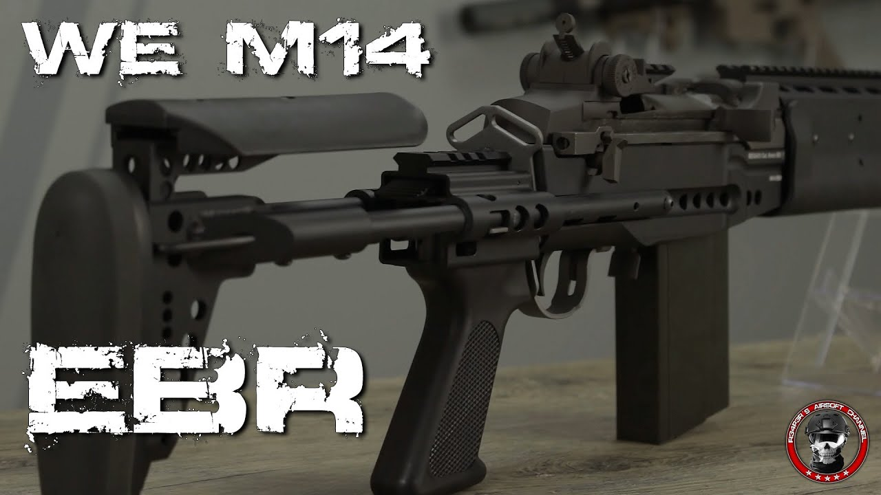 [Review] WE M14 EBR GBB (DMR) 6mm Airsoft Deutsch/German - YouTube